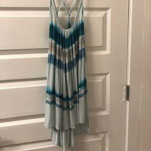 Free People Blue tie-dye tunic tank